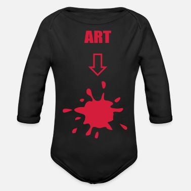 Art Art, arts - Organic Long-Sleeved Baby Bodysuit