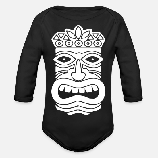 New Zealand Baby Clothes - Tiki - Organic Long-Sleeved Baby Bodysuit black