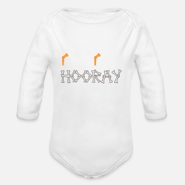 Hip Hip hip hooray hip surgery hip replacement hip - Organic Long-Sleeved Baby Bodysuit