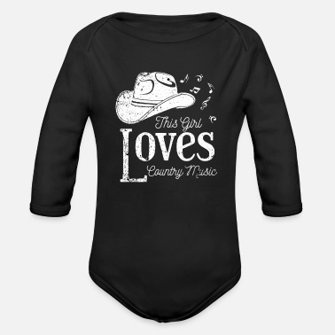 Country Country Music Folk Music - Organic Long-Sleeved Baby Bodysuit