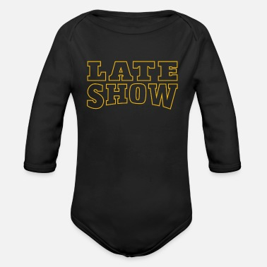 Late Show Graphic - Organic Long-Sleeved Baby Bodysuit