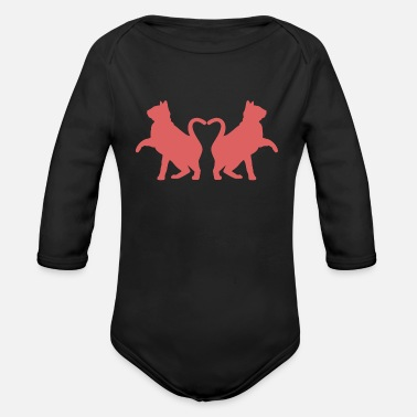 Cats In Love Cat cats in love - Organic Long-Sleeved Baby Bodysuit
