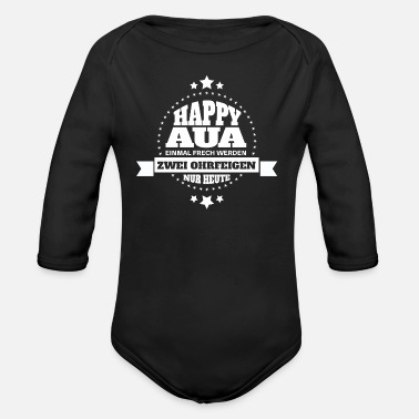 Bud HAPPY AUA - Baby Bio-Langarm-Body