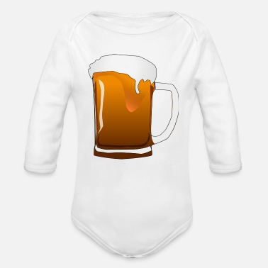 Beer beer mug - Organic Long-Sleeved Baby Bodysuit
