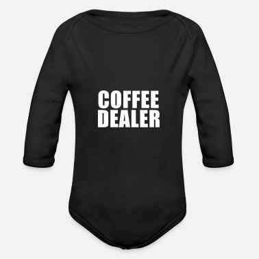 Coffee dealer - Organic Long-Sleeved Baby Bodysuit