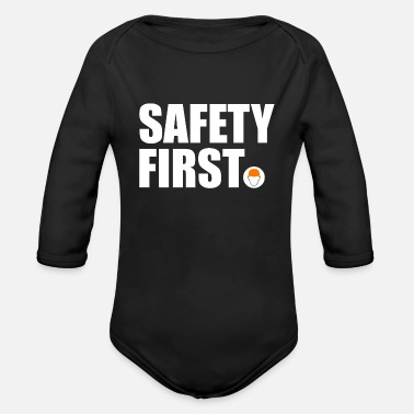 Safety Helmet Safety First Safety First Protective Helmet Protect - Organic Long-Sleeved Baby Bodysuit