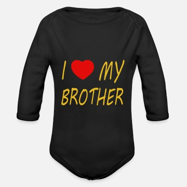 Easy I love my brother - Organic Long-Sleeved Baby Bodysuit
