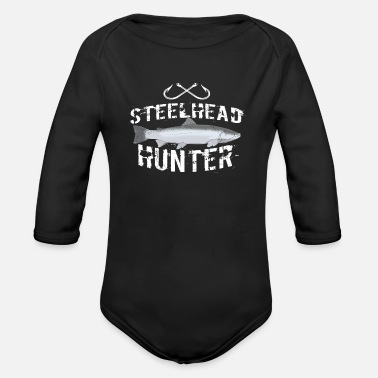 Trout Funny Steelhead Trout Fishing Freshwater Fish Gift - Organic Long-Sleeved Baby Bodysuit