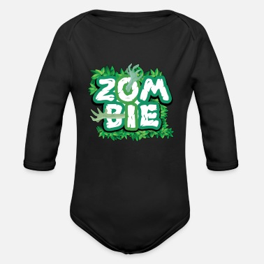 Zombie Zombie zombies - Organic Long-Sleeved Baby Bodysuit