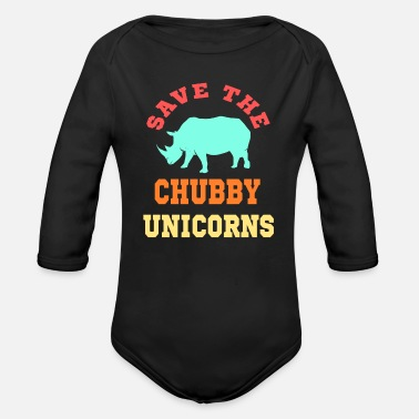 Save The Chubby Save the chubby unicorn - Baby Bio Langarmbody