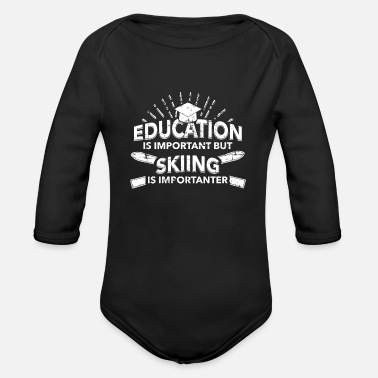 After Ski Skiing Skiing Skiing Skiing Skiing - Organic Long-Sleeved Baby Bodysuit