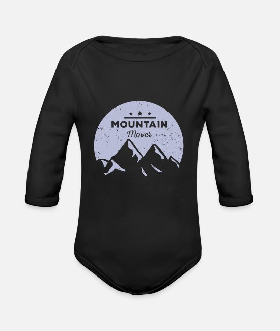 Symbol  Baby Clothes - Mountain guide - Organic Long-Sleeved Baby Bodysuit black