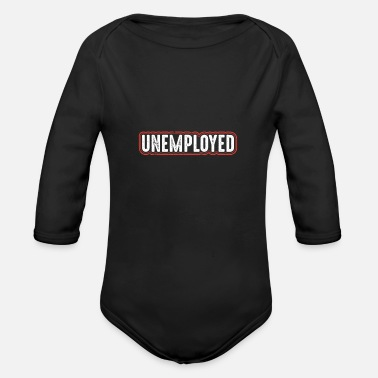 The Office Unemployed Hartz - Organic Long-Sleeved Baby Bodysuit