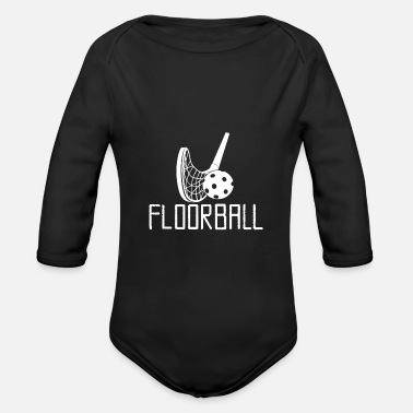 Floorball design bianco - Body a manica lunga per neonati
