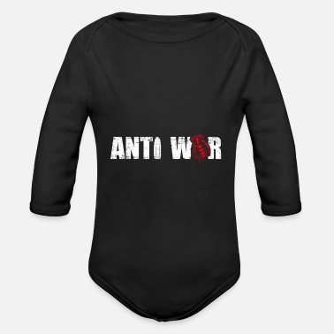 Anti War Anti war - Organic Long-Sleeved Baby Bodysuit
