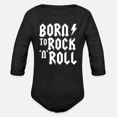 Rock N Roll Born to rock n roll - Baby bio-rompertje met lange mouwen