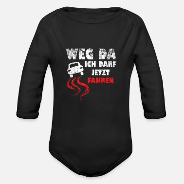 Driver's License Driver's License Novice Driver's License Test Car - Organic Long-Sleeved Baby Bodysuit