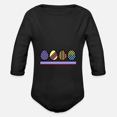 Easter Egg Easter Eggs - Easter eggs - Organic Long-Sleeved Baby Bodysuit