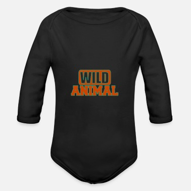 Wild Animal Wild animal - Wild animals - Organic Long-Sleeved Baby Bodysuit