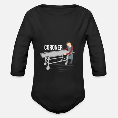 Coronation coroner - Organic Long-Sleeved Baby Bodysuit
