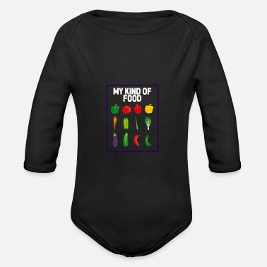 Group Veggie Group - Vegan Group - Organic Long-Sleeved Baby Bodysuit
