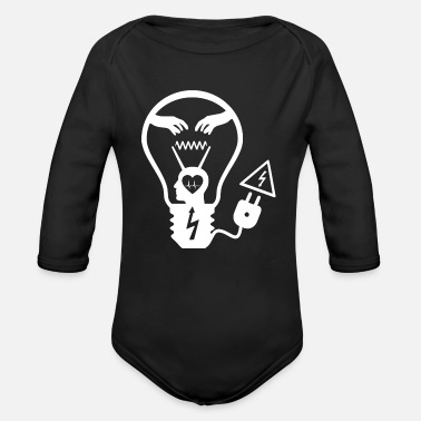 Light bulb white - Organic Long-Sleeved Baby Bodysuit
