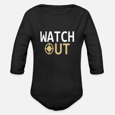 Watching Watching | Watch out - Organic Long-Sleeved Baby Bodysuit