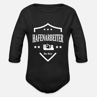 Dock Hafenarbeiter / Docker / Dock / Hafen / Boot - Organic Long-Sleeved Baby Bodysuit