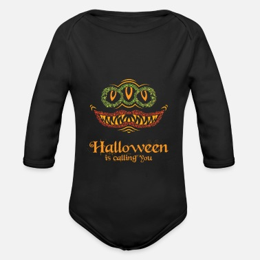 Earth Halloween holiday of the monsters - Organic Long-Sleeved Baby Bodysuit