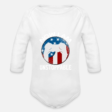 I Am Gaming Gaming Now I Am Unstoppable Funny Gamer - Organic Long-Sleeved Baby Bodysuit