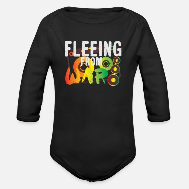 Flee Fleeing from War - Organic Long-Sleeved Baby Bodysuit