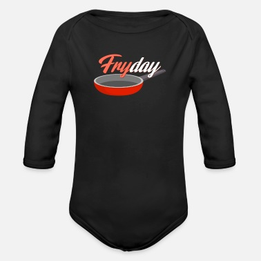 Roast Roast the meat - Organic Long-Sleeved Baby Bodysuit