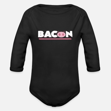 Animal Bacon | Pig nose typography pig gift - Organic Longsleeve Baby Bodysuit