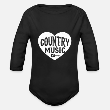 Cash Country Music Herz Shirt Geschenk gift t-shirt - Baby Bio Langarmbody