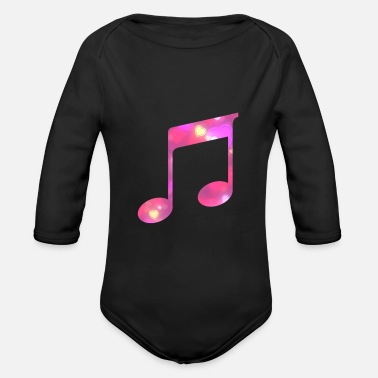 Music Note musical note - Organic Long-Sleeved Baby Bodysuit