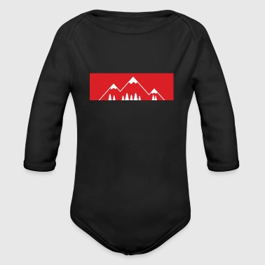 The mountain calls! - Mountains, mountains - Organic Longsleeve Baby Bodysuit