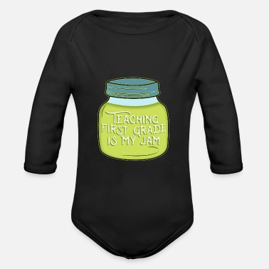 Primary Primary School Teacher - Primary School Teacher - Leher - Organic Long-Sleeved Baby Bodysuit