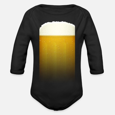 Belly Beer belly - Organic Long-Sleeved Baby Bodysuit