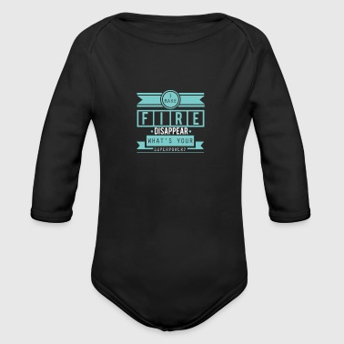 Fire Department fire Department - Organic Longsleeve Baby Bodysuit