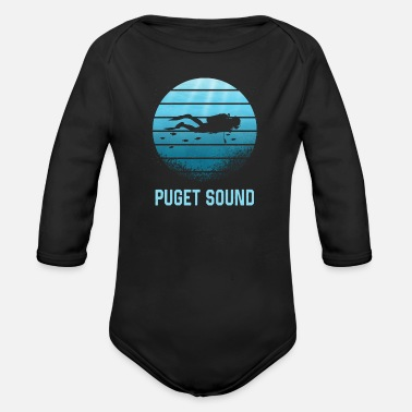 Sound Buceo en Puget Sound - Body de manga larga bebé