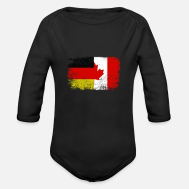 Germany Canada Canada Flag Germany Cool Gift - Organic Long-Sleeved Baby Bodysuit