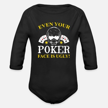 Jouer Poker Poker Ace of Spades Pokerface Bluff Chip Leader - Body Bébé bio manches longues