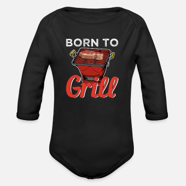Bbq BBQ BBQ - Organic Long-Sleeved Baby Bodysuit