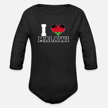 Malawi Malawi - Organic Long-Sleeved Baby Bodysuit