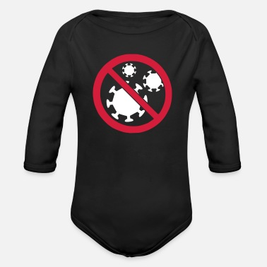 Virus virus - Organic Long-Sleeved Baby Bodysuit