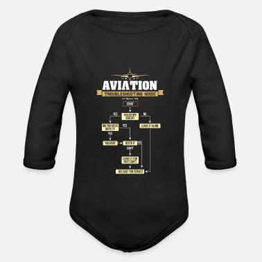 Flugzeug Aviation Trobleshooting Guide Airplane TShirt - Baby Bio Langarmbody