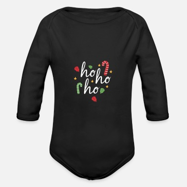 Treatment HOHOHO CHRISTMAS CANDY TREATMENT LOVE - Organic Long-Sleeved Baby Bodysuit