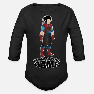 Role Playing Game Role playing game fighter - Organic Longsleeve Baby Bodysuit