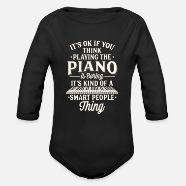 Piano Piano Keyboard Player Gift - Organic Long-Sleeved Baby Bodysuit