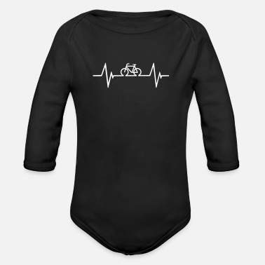 Bicycle Heartbeat Bicycle Heartbeat - Organic Long-Sleeved Baby Bodysuit